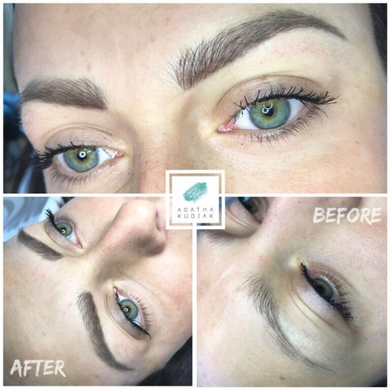 Chicago Permanent Eyebrows - Before and After