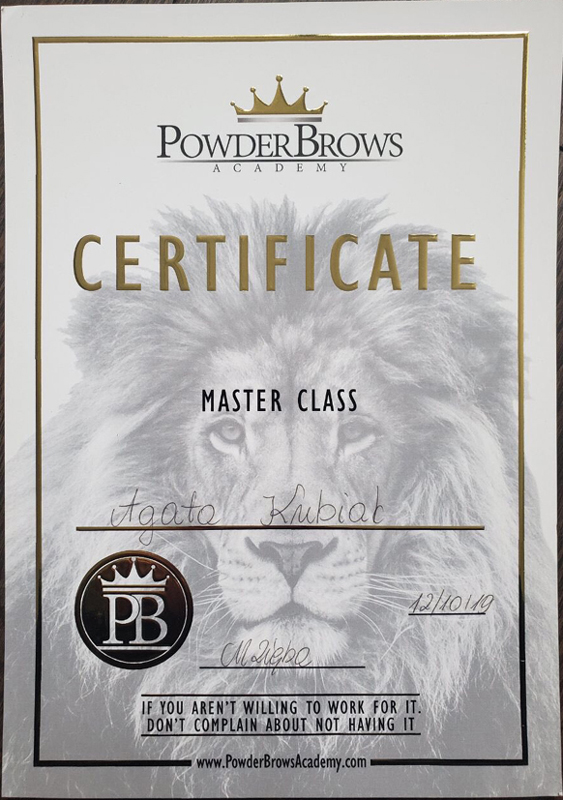Powder Brows Academy Certificate Master Class