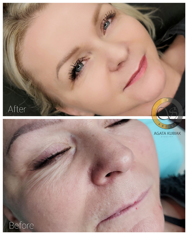 Chicago Permanent Eyebrows and Lips - Before and After