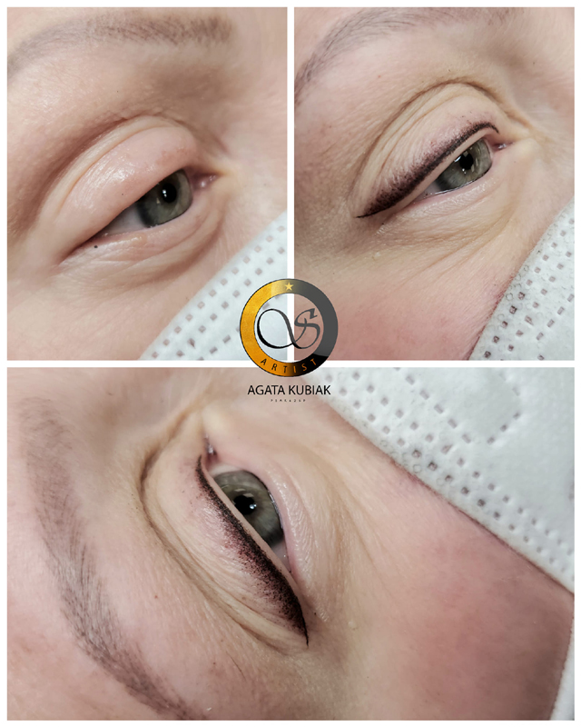 Chicago Permanent Eyeliner - Before and After
