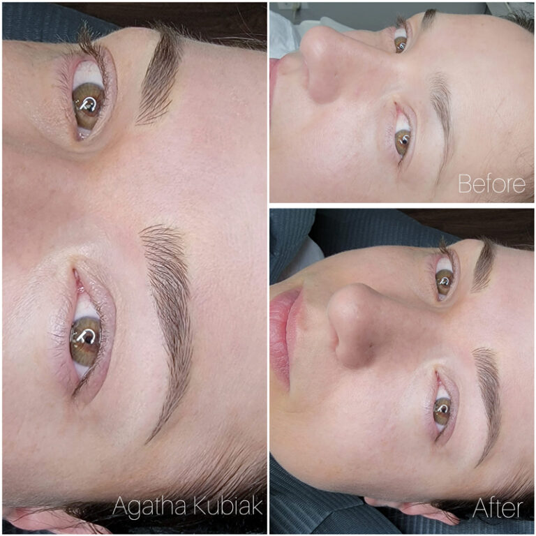 Microblading Eyebrows - Before and After