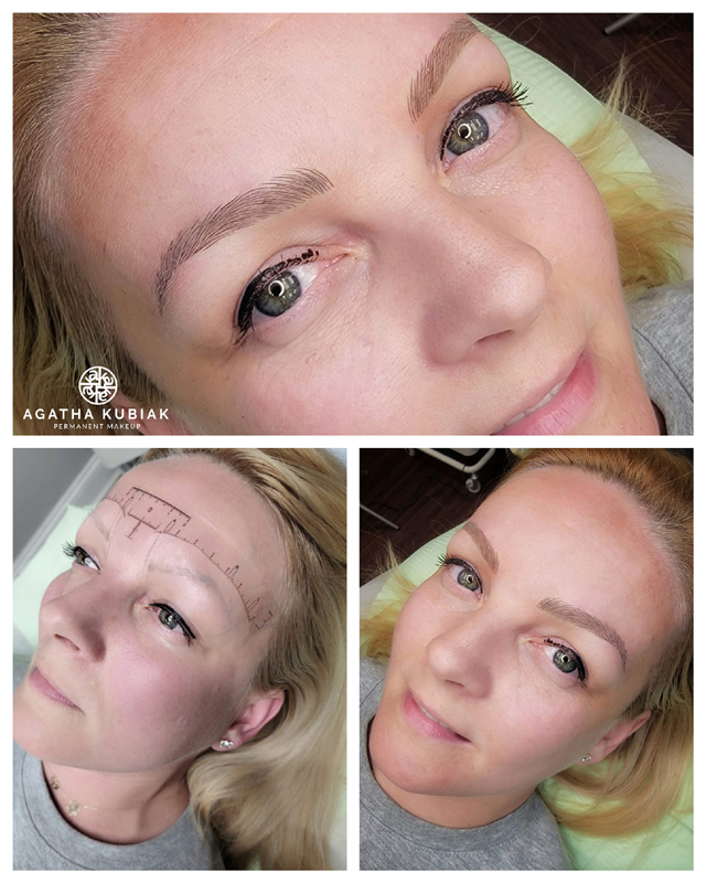 Before and After. Microblading 3D Eyebrows