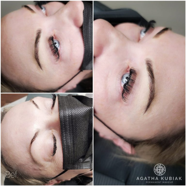 Before and After. Microblading Eyebrows