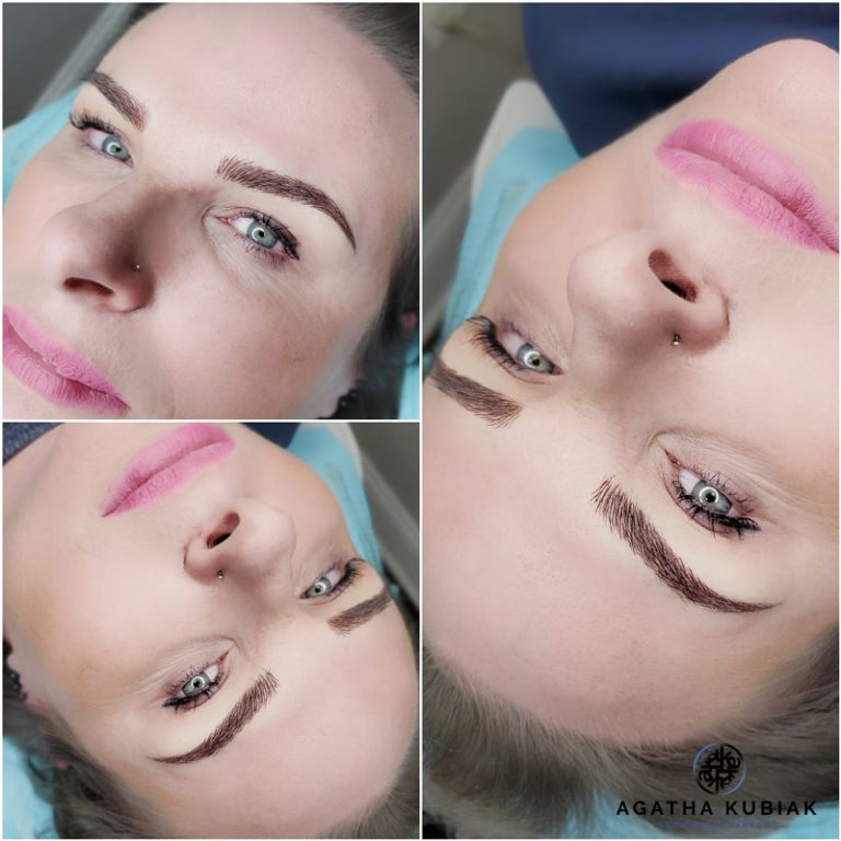 Microblading Eyebrows with Shading