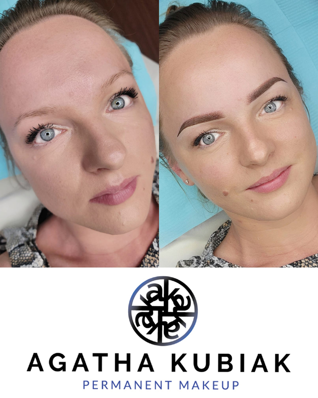 Before and After. Powder Eyebrows